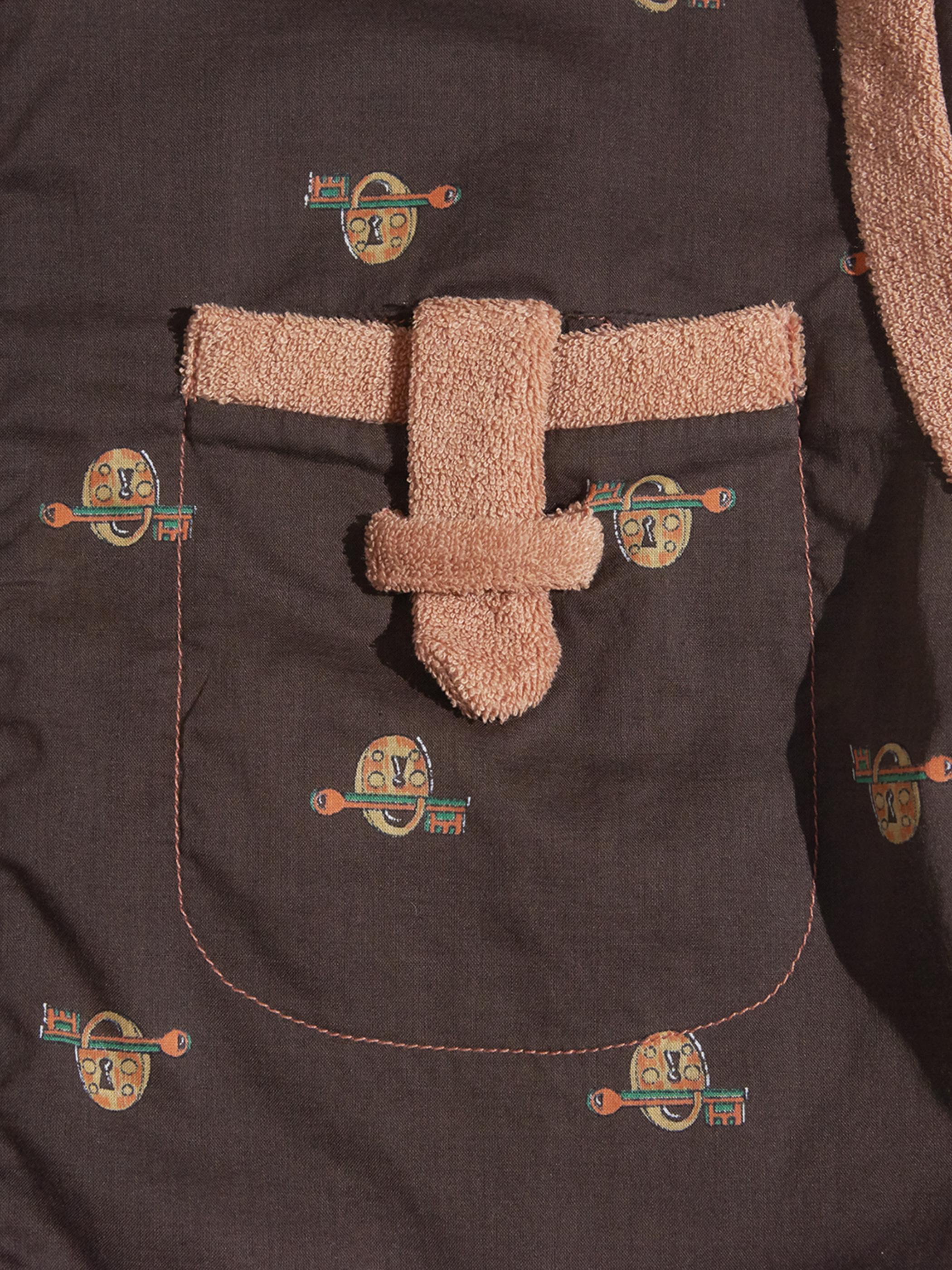 """1960s """"GENO"""" pile switching pattern shirt -BROWN-"""
