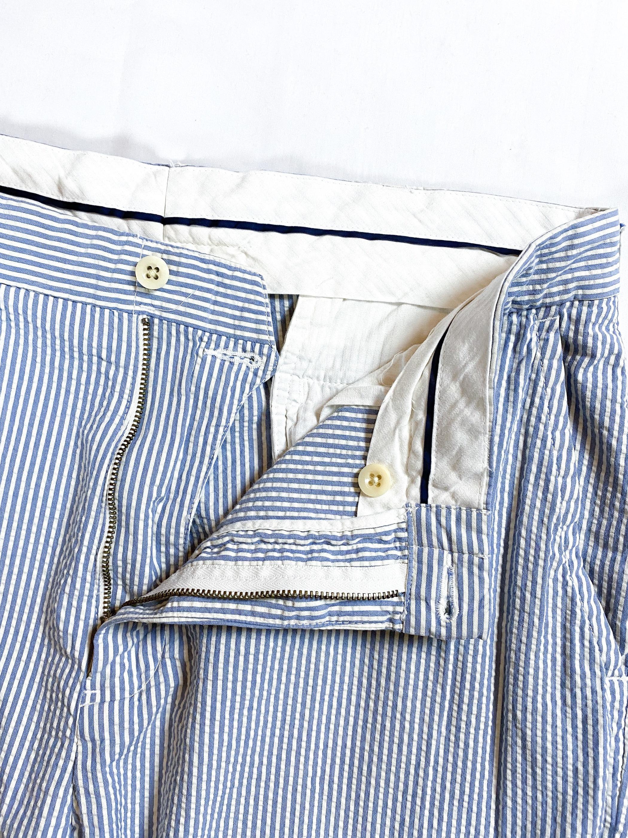 Ralph Lauren seersucker stripe trousers