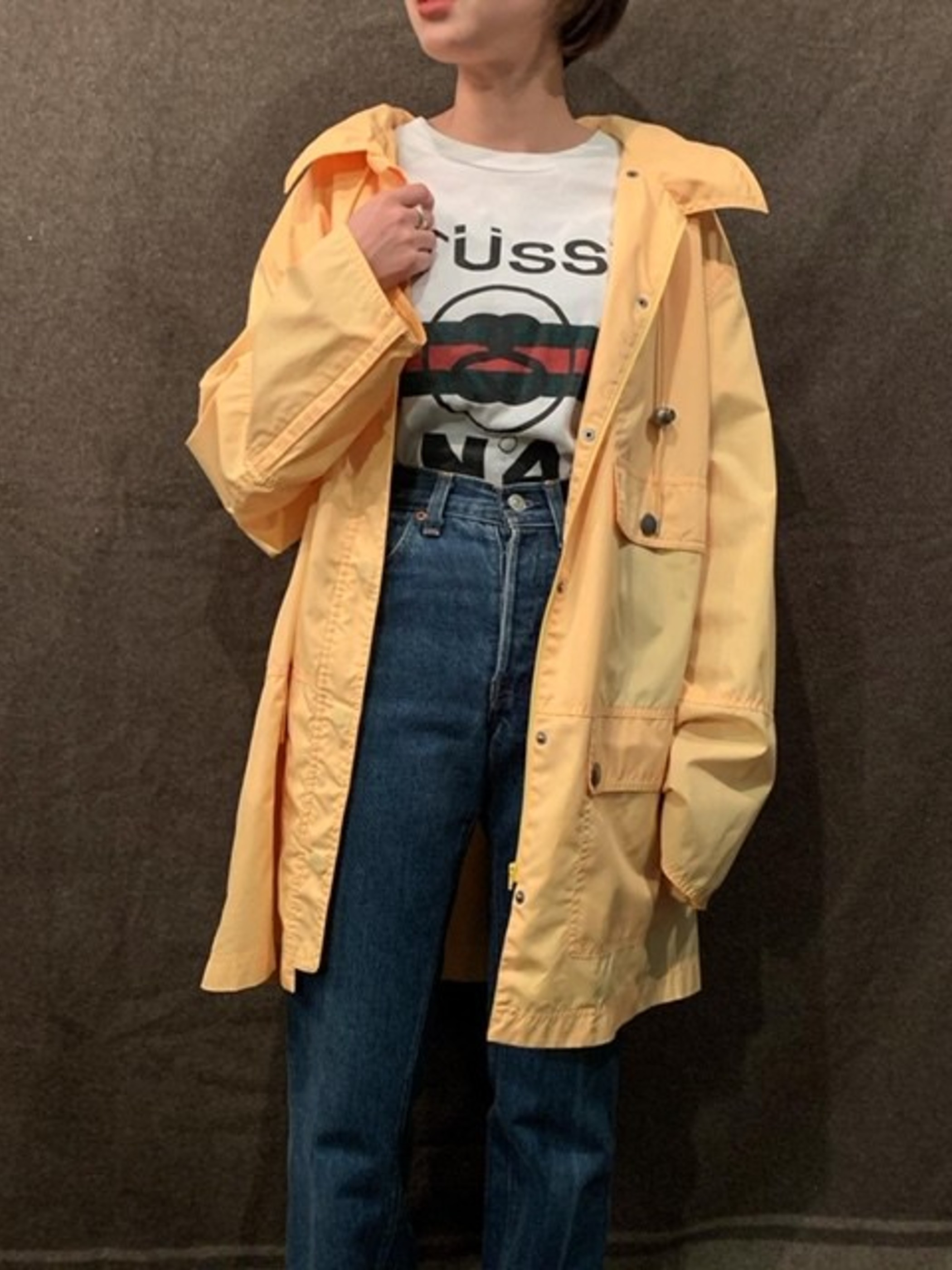 80~90s ナイロンデザインコート
