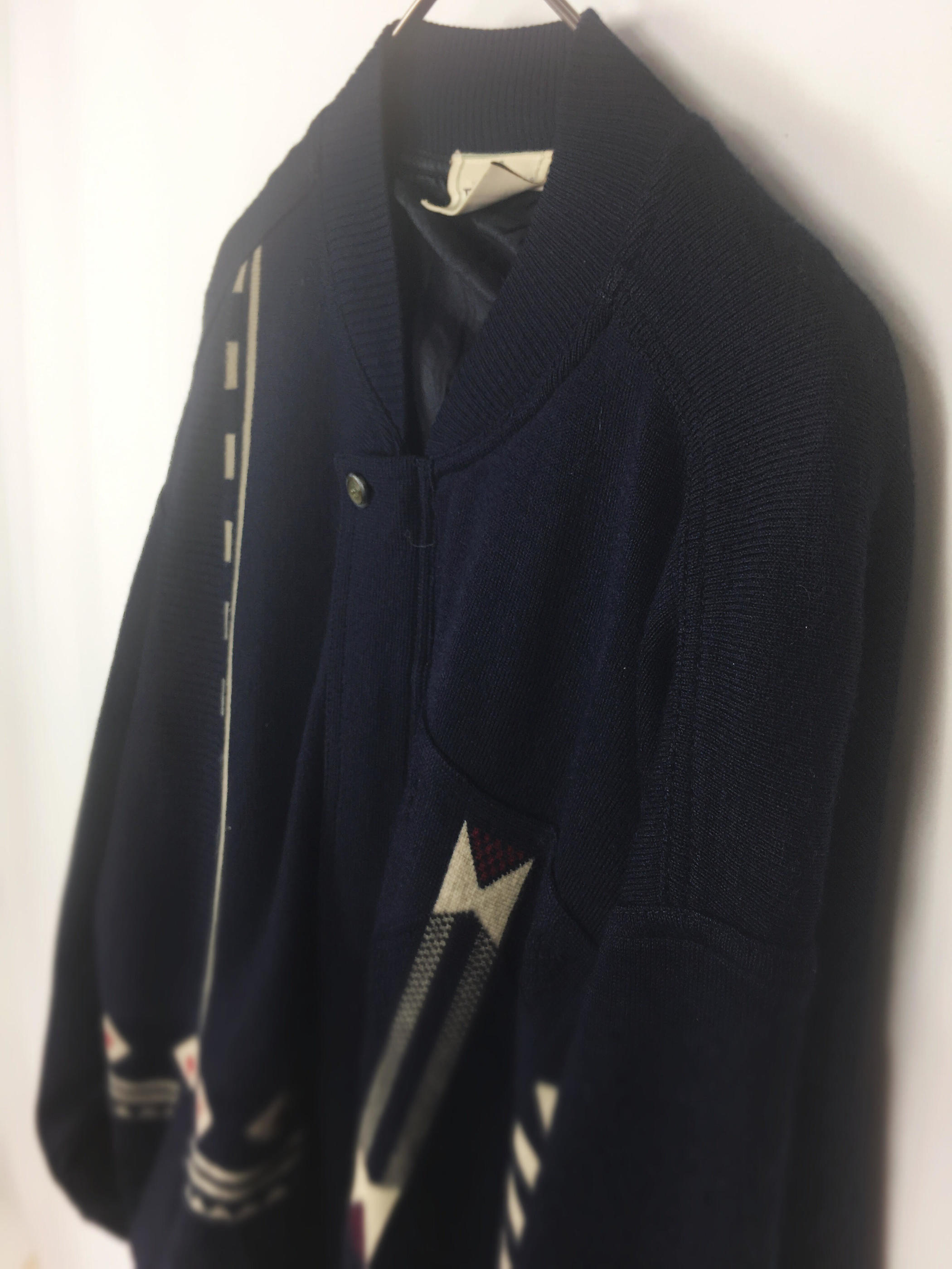 MADE IN ITALY Wool  Native Jacket イタリア製 デザインウールジャケット[L]