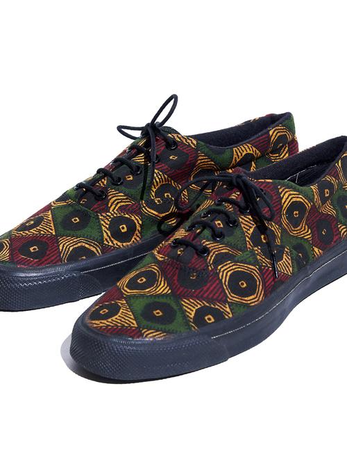 "1990s ""CONVERSE"" SKIDGRIP canvas sneaker -AFRICAN PRINT-"