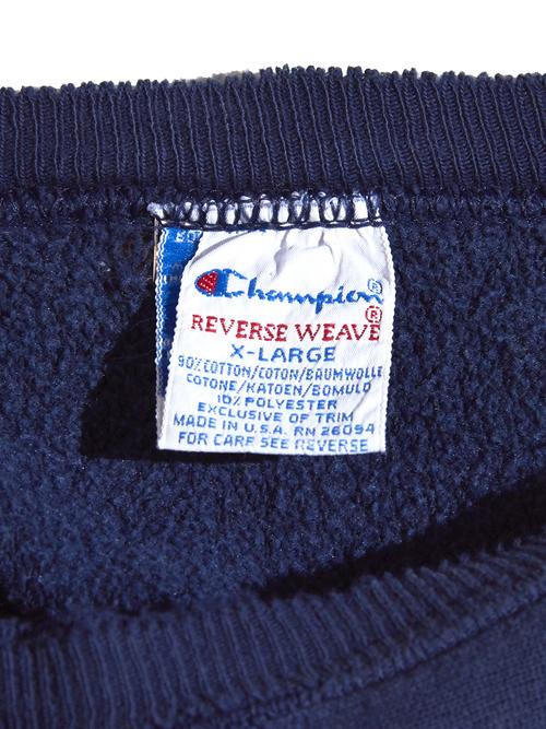 "1990s ""champion"" R/W sweat -NAVY-"