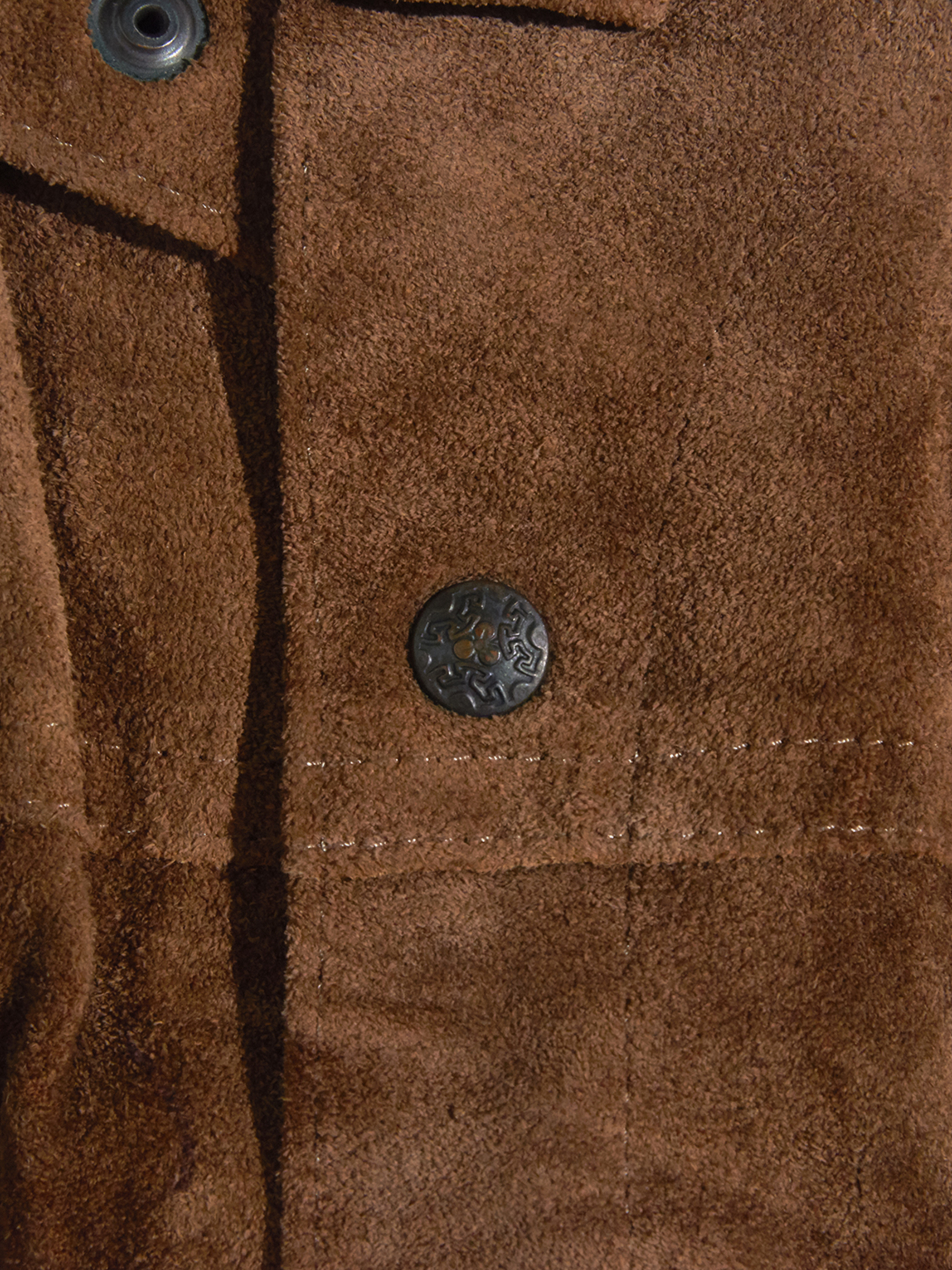 "1970s ""unknown"" 3rd type suede jacket -BROWN-"