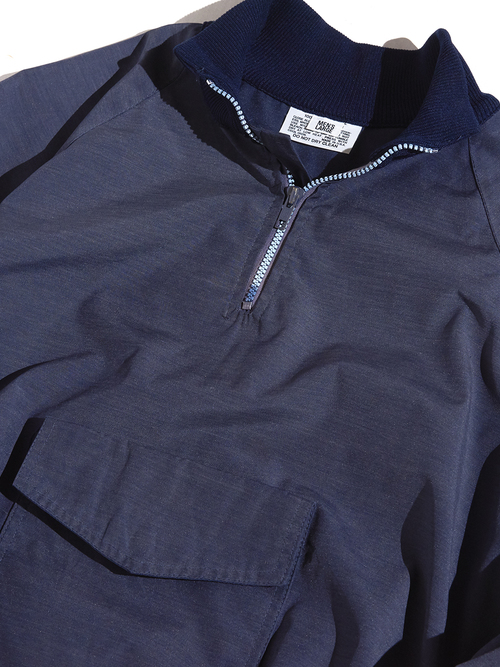 "1970s ""unknown"" half zip nylon jacket -NAVY-"