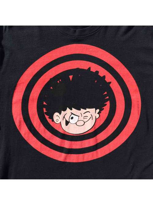 "00's ST MICHAEL ""DENNIS THE MENACE AND GNASHER"" U.K. Made T-Shirt [M]"