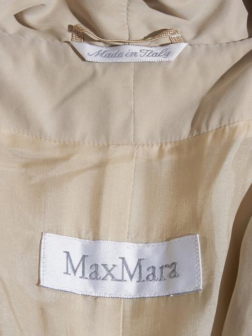 """2000s """"MAX MARA"""" peach skin haori coat -BEIGE-"""
