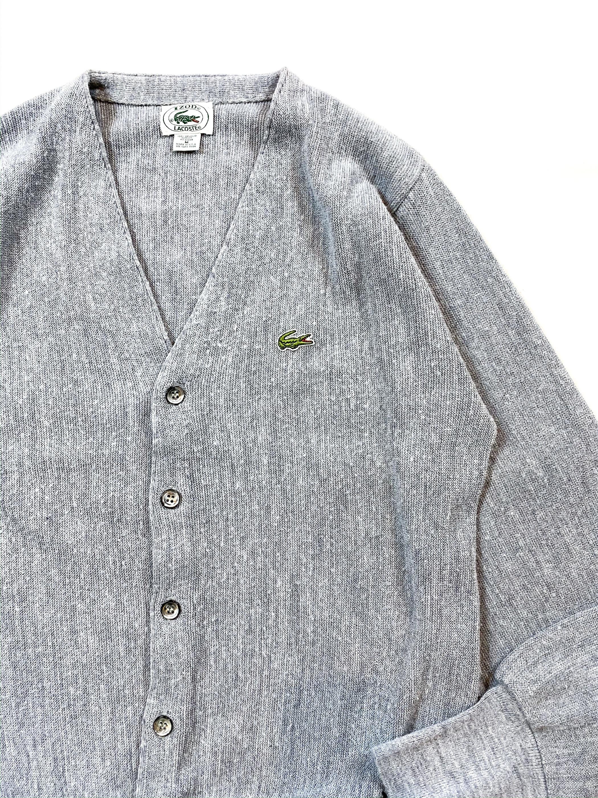 80's IZOD LACOSTE acrylic knit cardigan