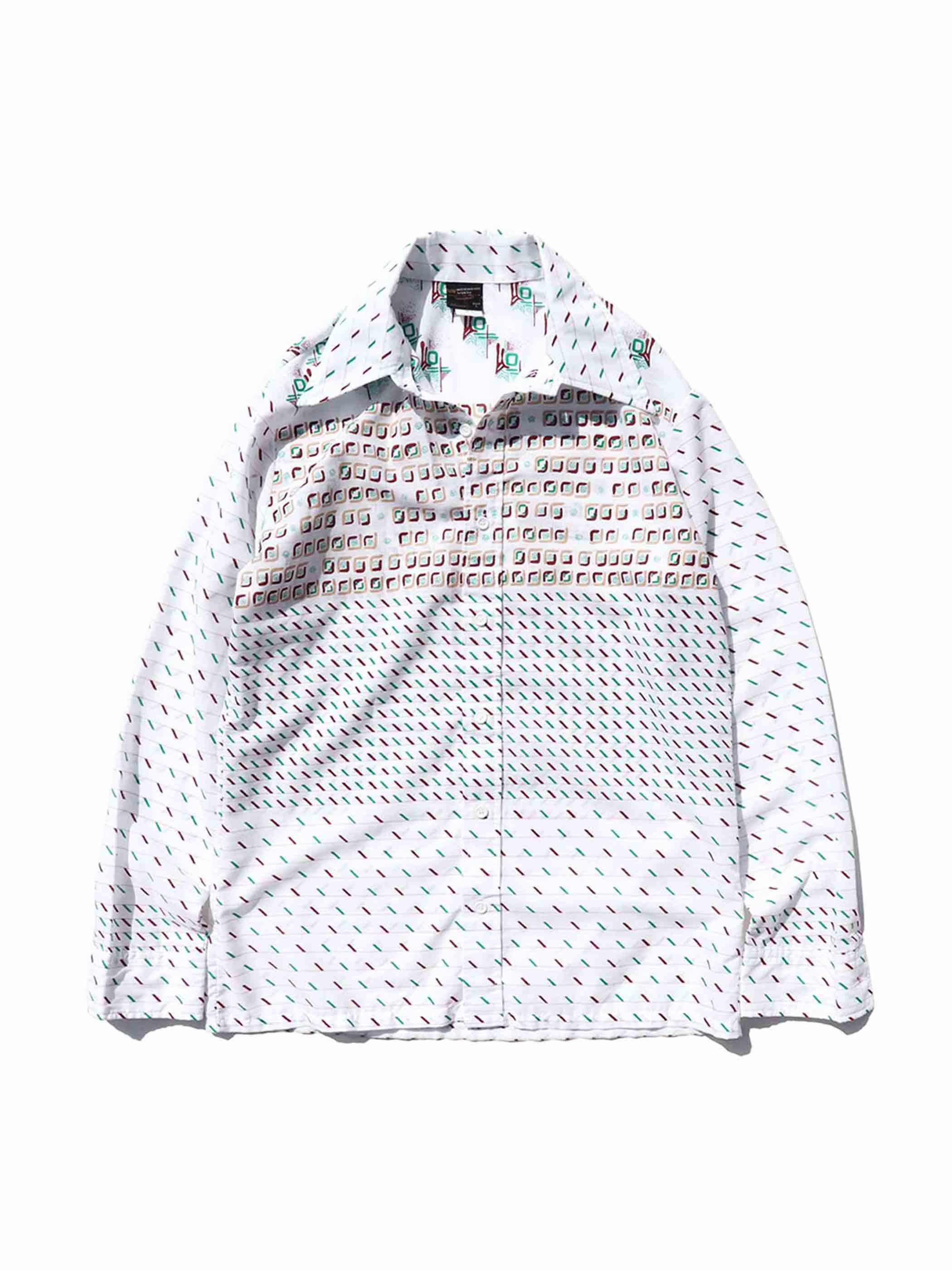 70's TOWNCRAFT Multi Pattern L/S Shirt [L]