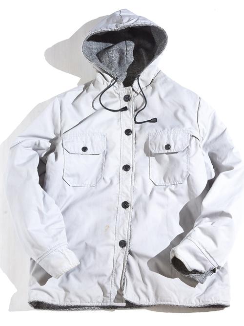 """1970s """"SEARS"""" reversible hooded wool jacket -GREY-"""