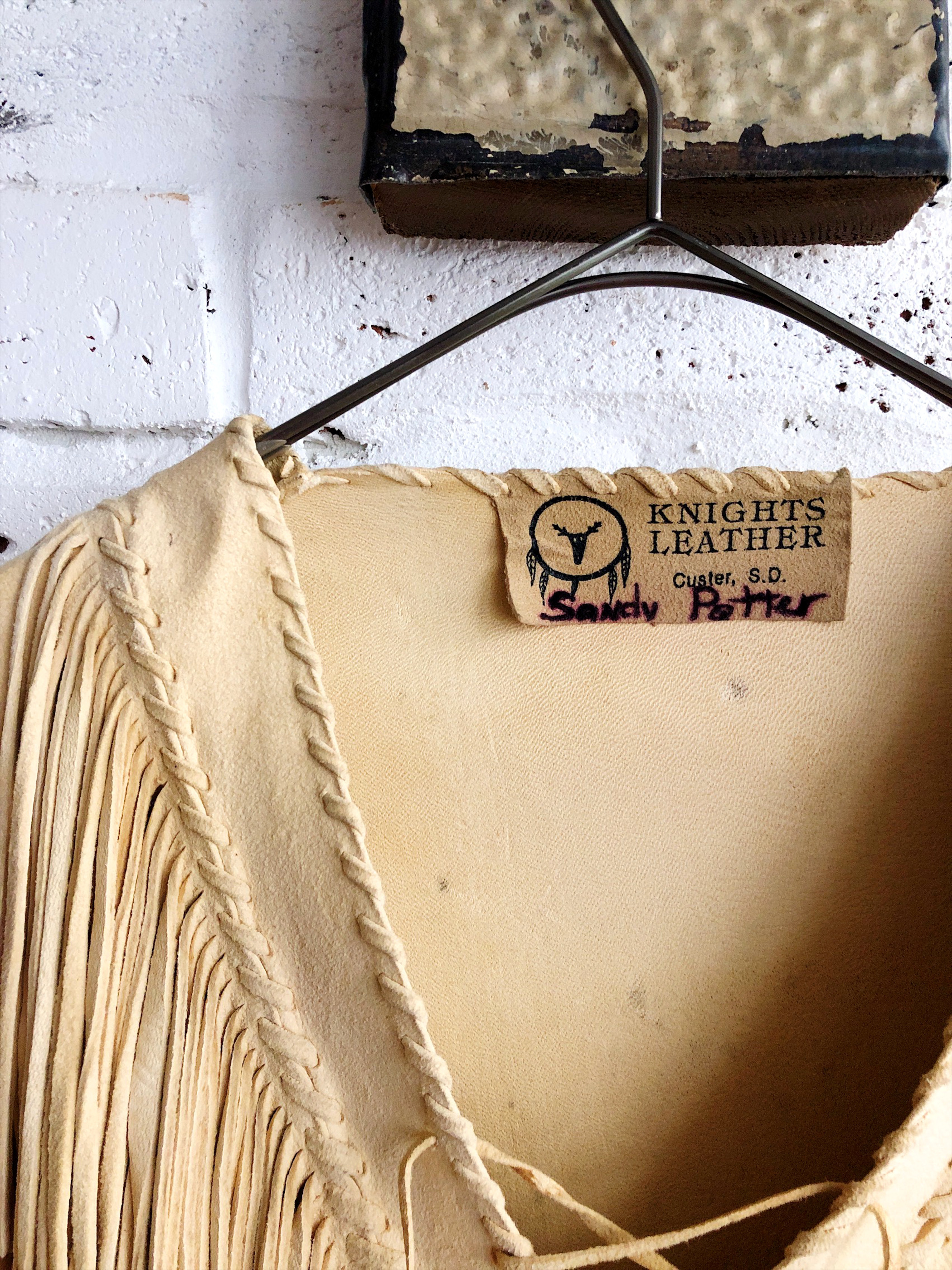 Vintage 70's USA 【KNIGHTS  LEATHER】 fringe jacket