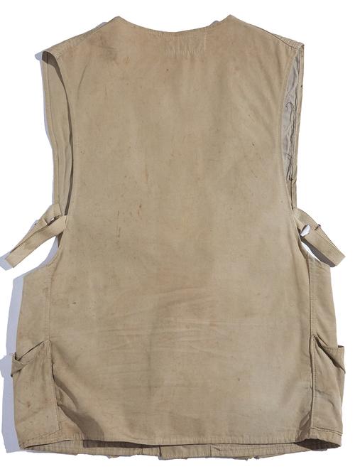 """1950s """"Gun Club"""" shooting vest -BEIGE-"""
