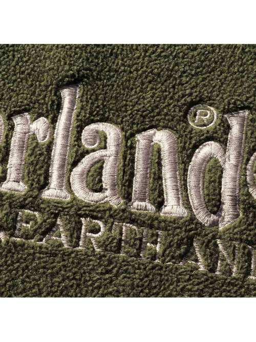 90's TIMBERLAND 刺繍ロゴ フリースプルオーバーパーカー [L]