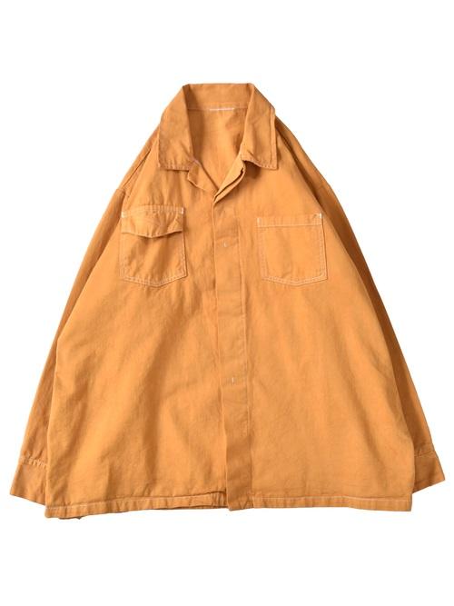 後染め オープンカラー ワークジャケット / overdye open collar work jacket