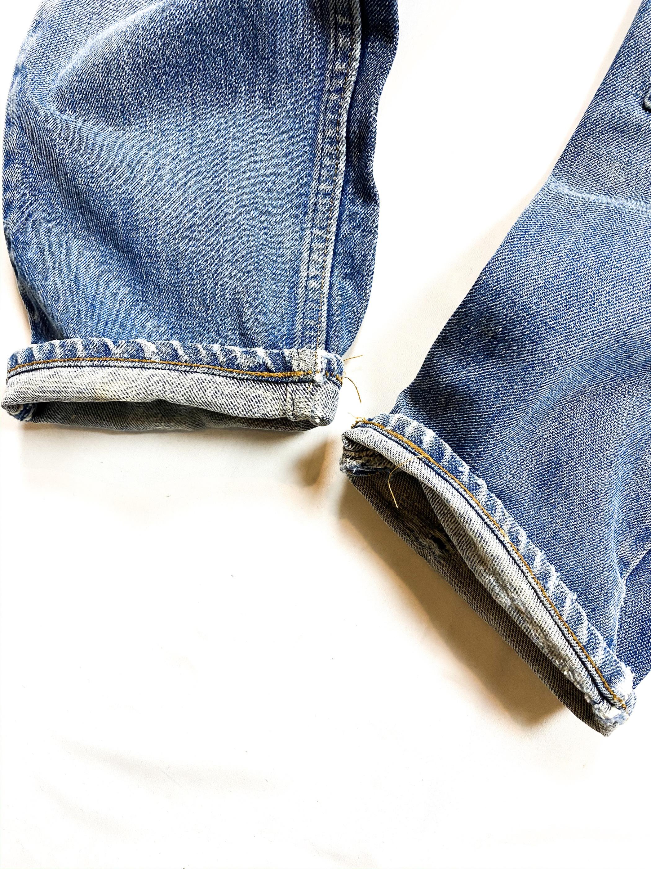 70's  Levi's 505 remake blue denim pants