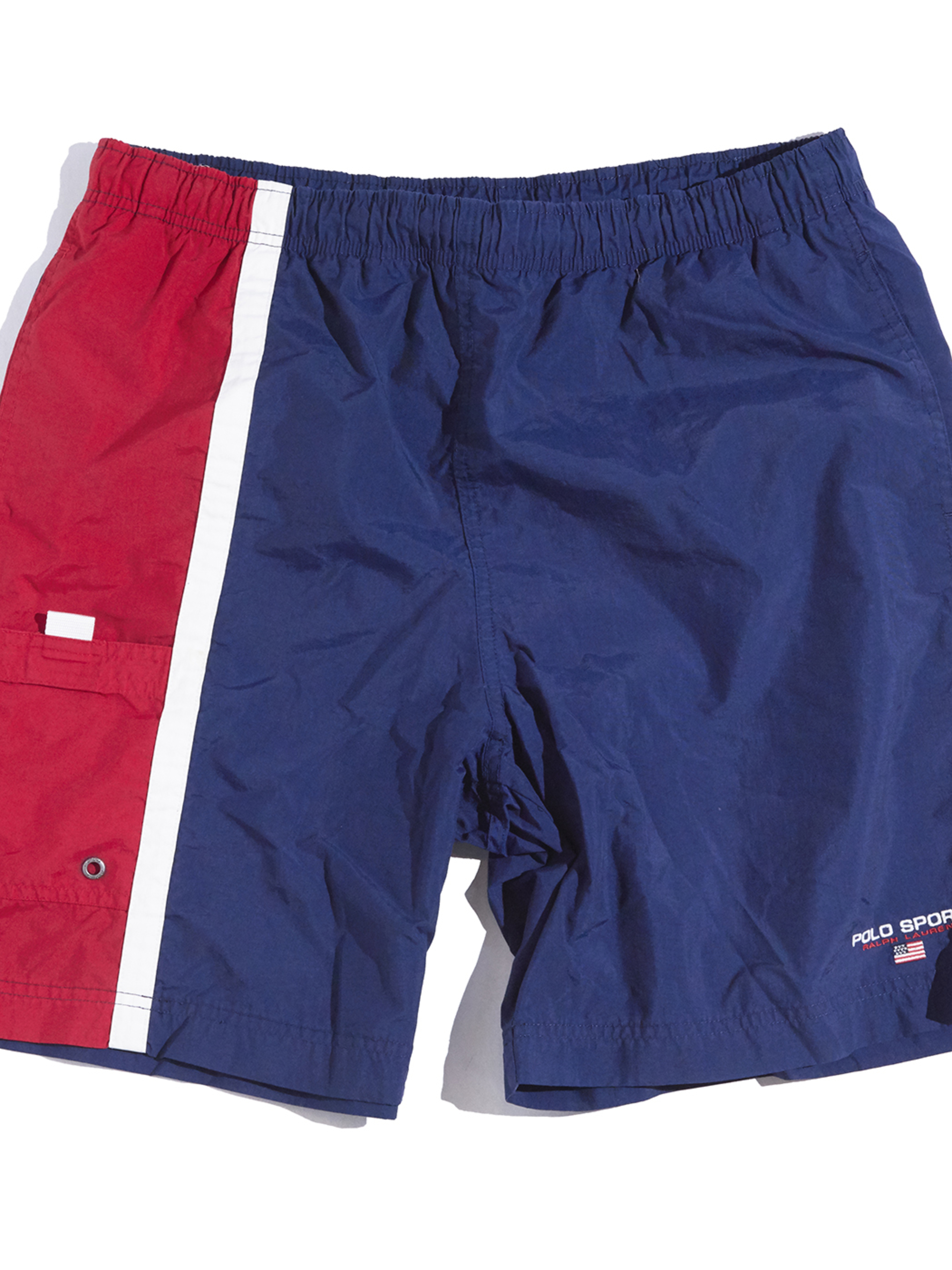 "1990s ""POLO SPORT"" swim shorts -NAVY-"