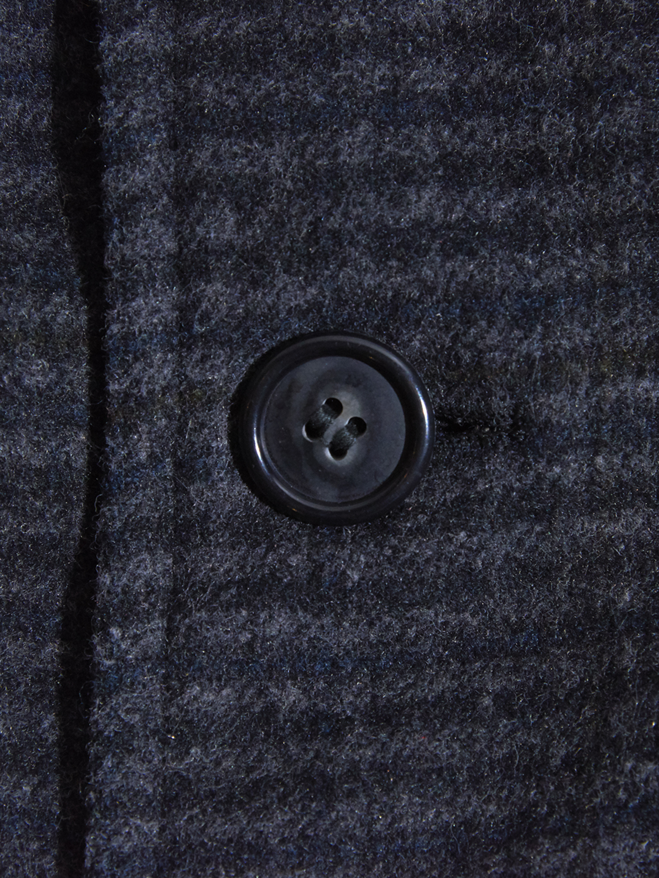 "1960s ""Burnbrae"" wool check coat -CHACOAL-"