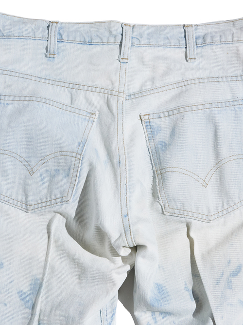 "1980s ""Levi's"" Lot.519? custom center crease denim pants #7"