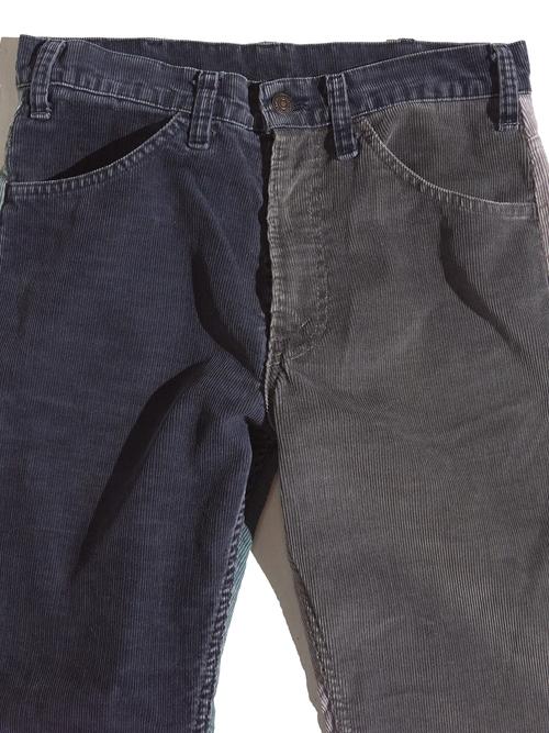 "1980s ""Levi's"" custom mede crazy pettern 519 corduroy pants #2"