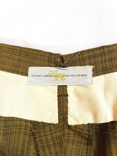 60's check tapered slacks