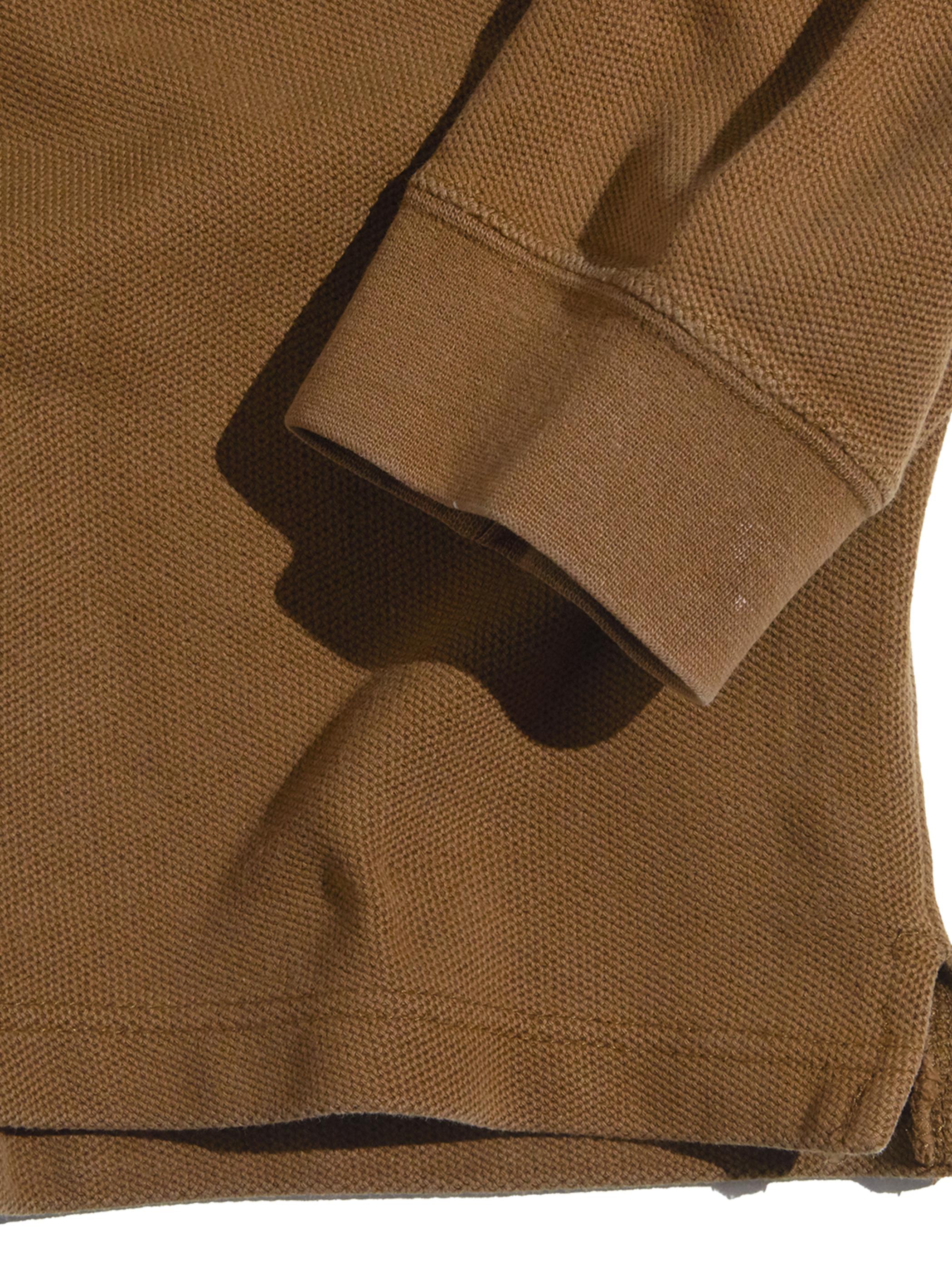 """1990s """"GAP"""" L/S knit polo shirt -BROWN-"""