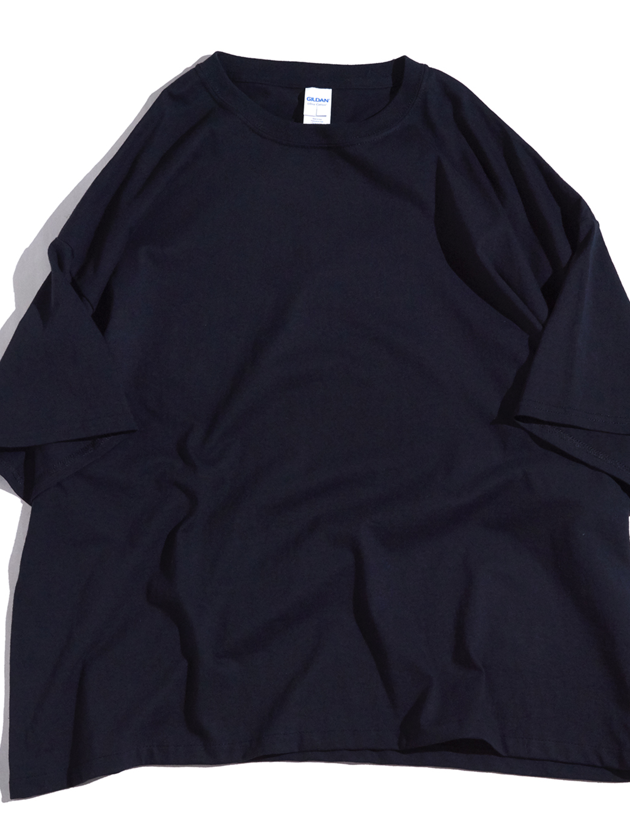 "2000s ""GILDAN"" custom wide blank tee 3XL -BLACK-"