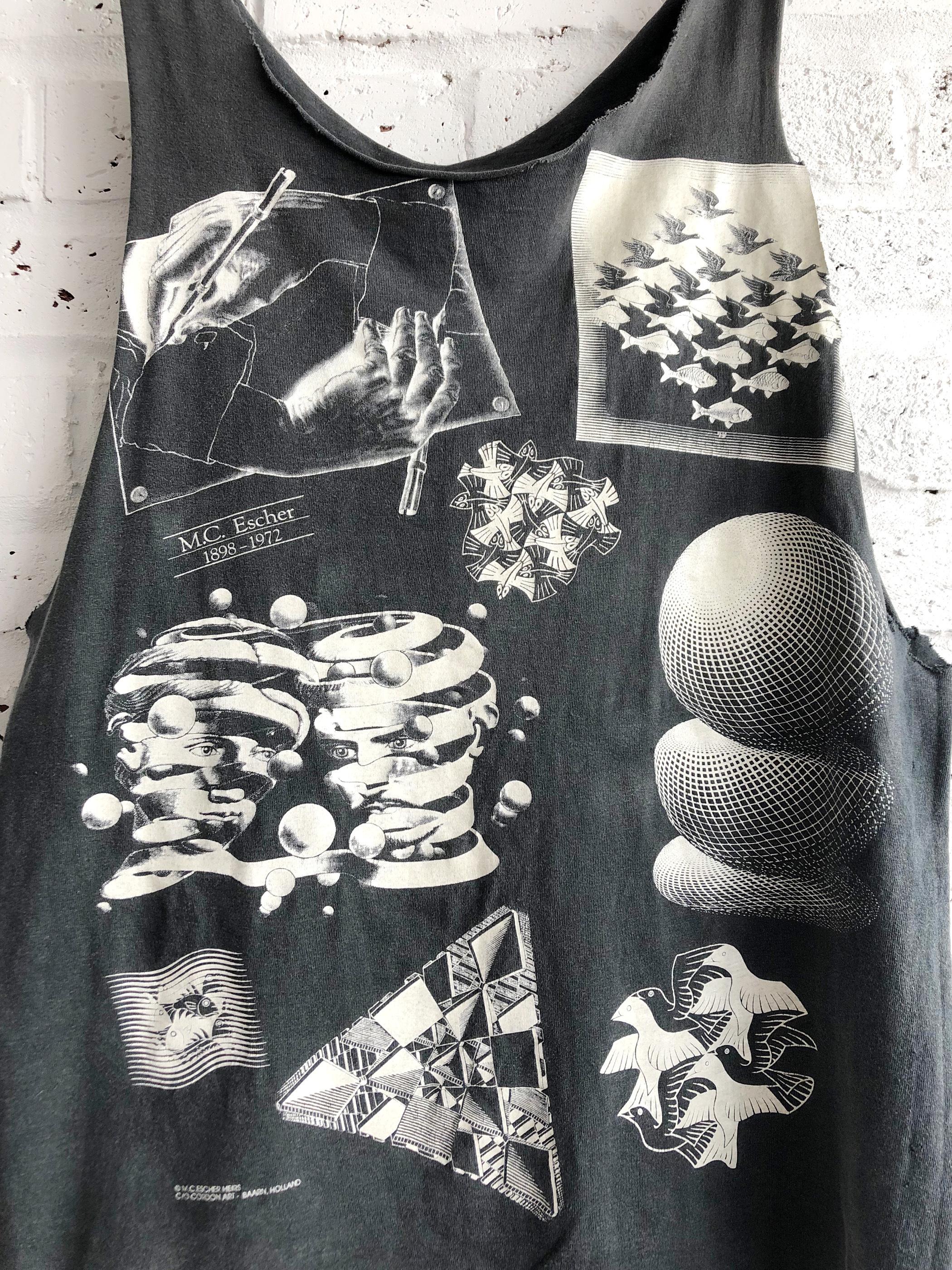 Vintage 90's USA M.C. Escher Re. Sleeveless shirt