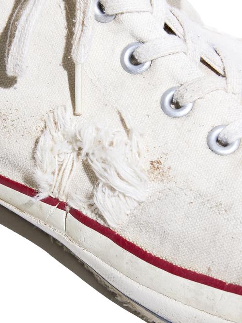 "1980s ""CONVERSE"" ALLSTAR Hi. canvas sneaker -WHITE-"