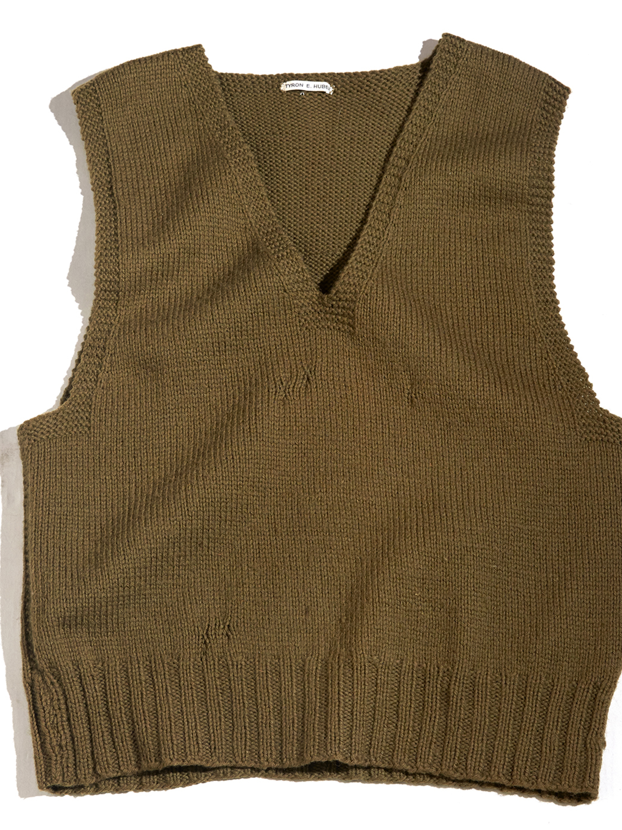 """1940s """"American Red Cross"""" wool knit vest -OLIVE-"""