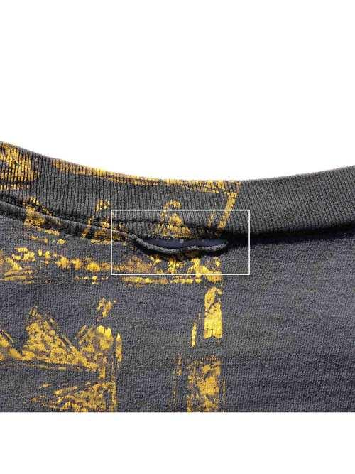 90's OCEAN PACIFIC トライバル マルチプリントTシャツ [About XL]