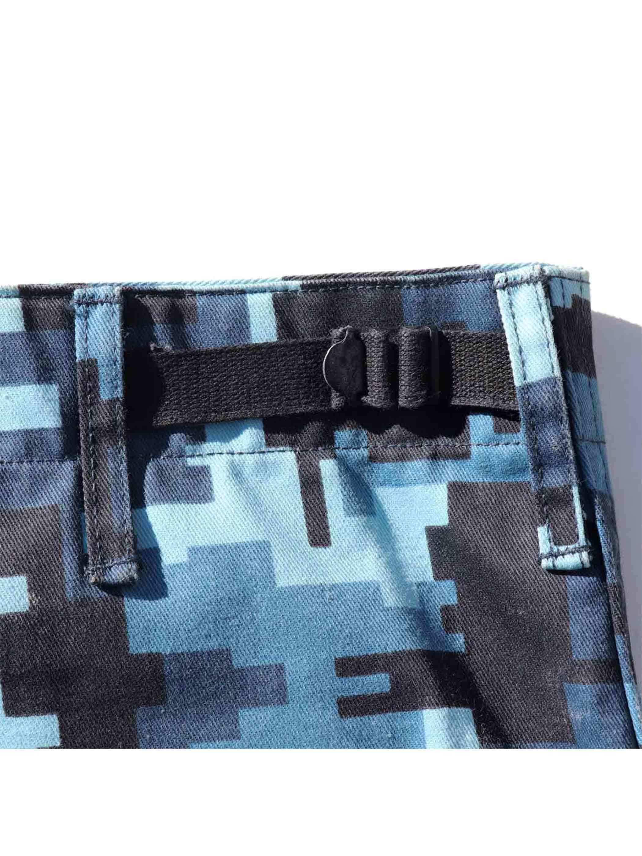 "90's CIVILIAN ""TECHNOFLAGE"" Combat Trousers Made In U.S.A. [L-R]"