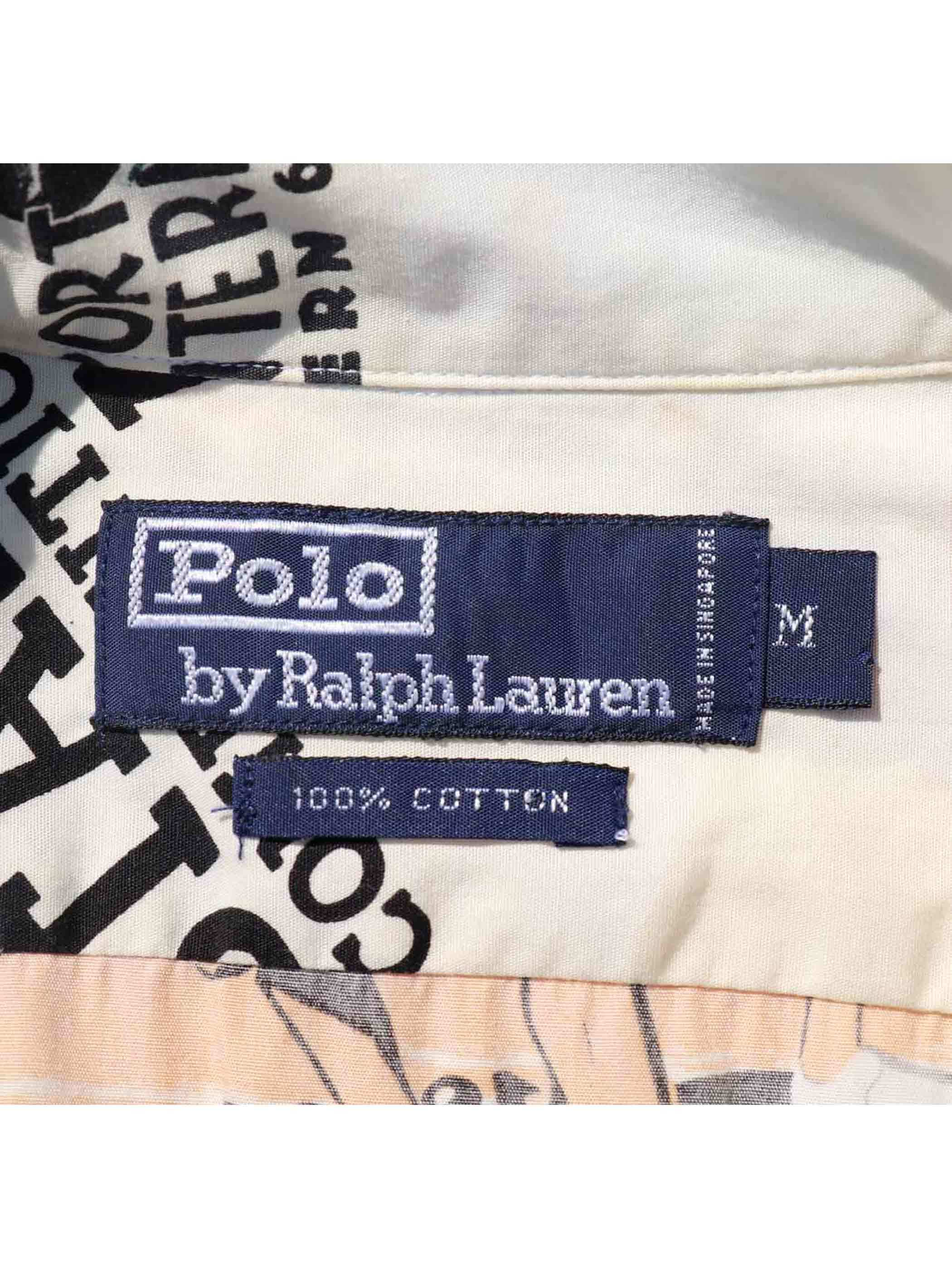 """90's RALPH LAUREN """"92 POLO STADIUM COLLECTION"""" S/Sシャツ [M]"""