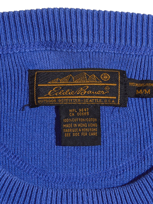 "1990s ""Eddie Bauer"" pocket cotton knit -PURPLE-"