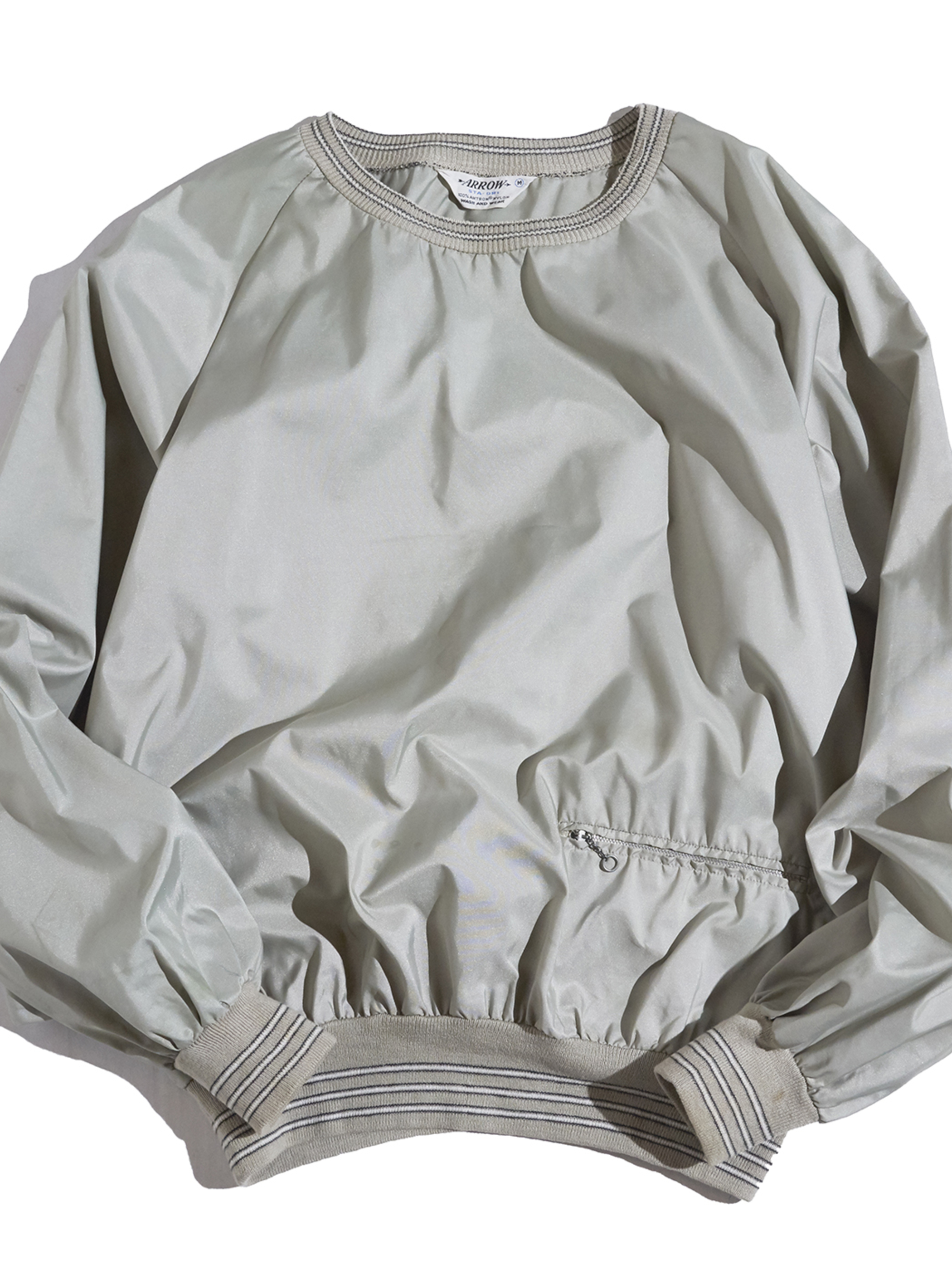 """1960s """"ARROW"""" nylon sweat -OLIVE-"""