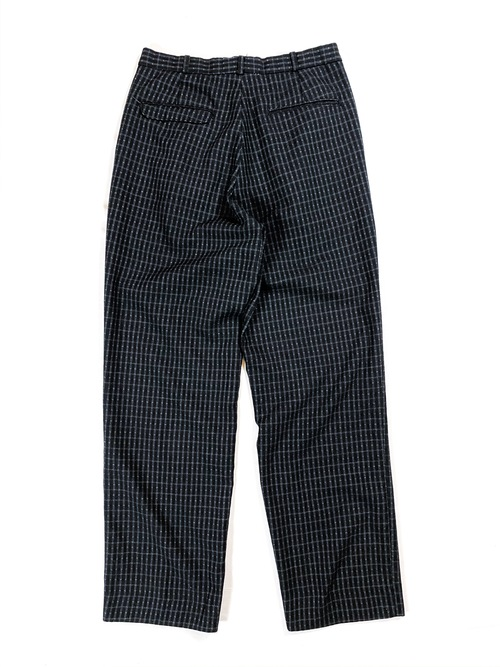 80's check 2 tuck slacks