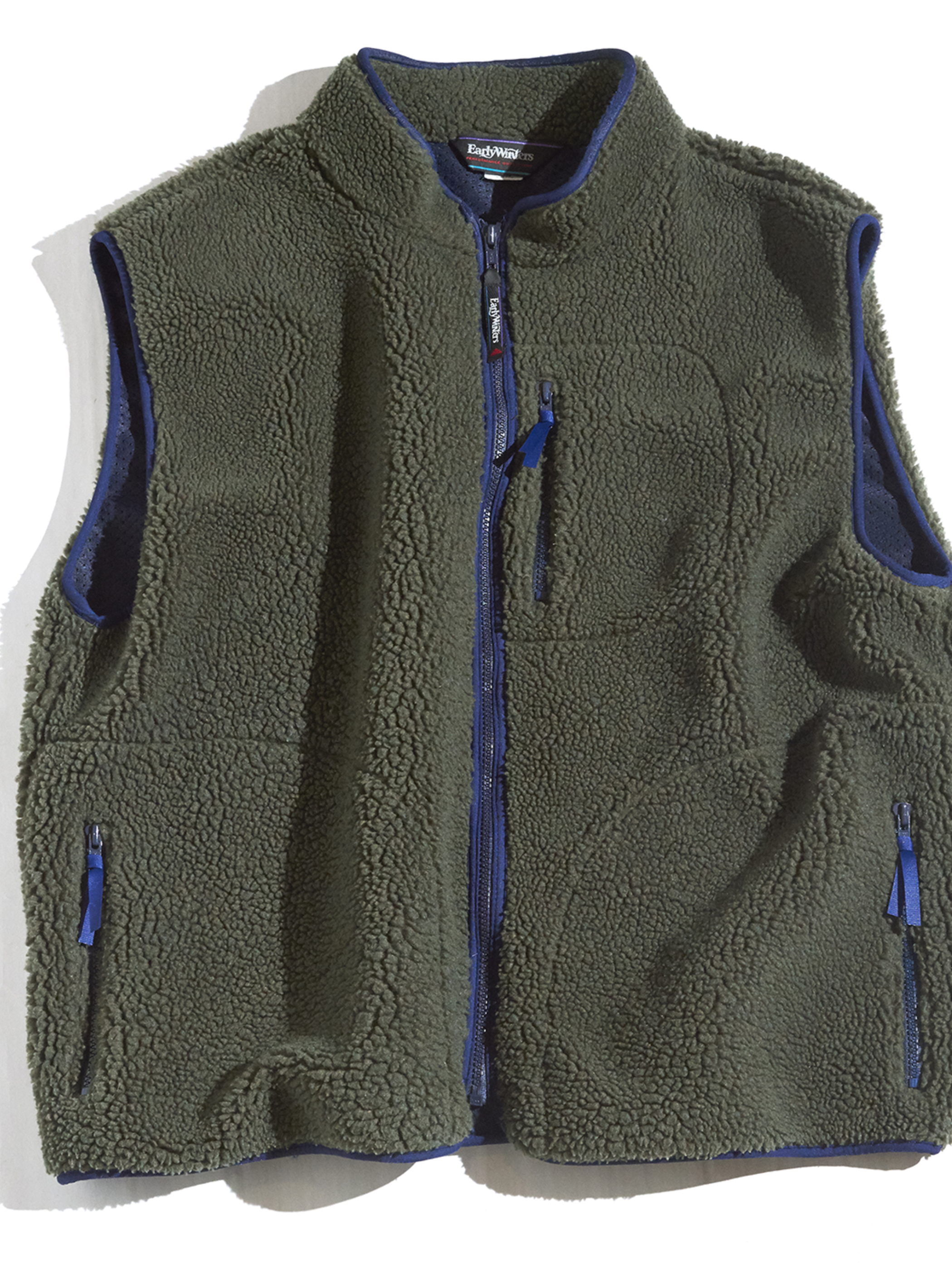 "1990s ""Early Winters"" pile fleece vest -OLIVE-"