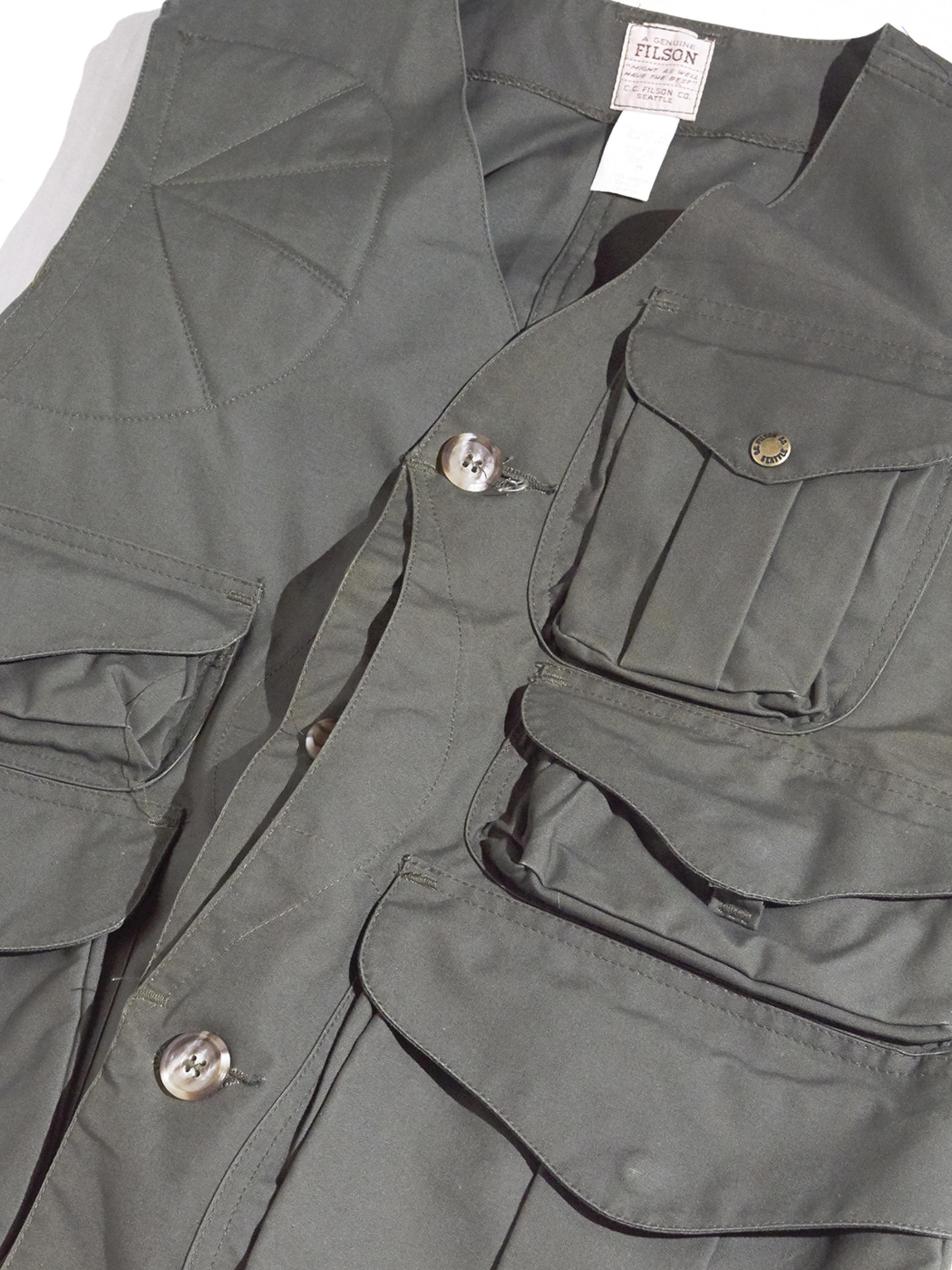 "1990s ""FILSON"" duck hinting vest -OLIVE- <SALE¥24000→¥19200>"