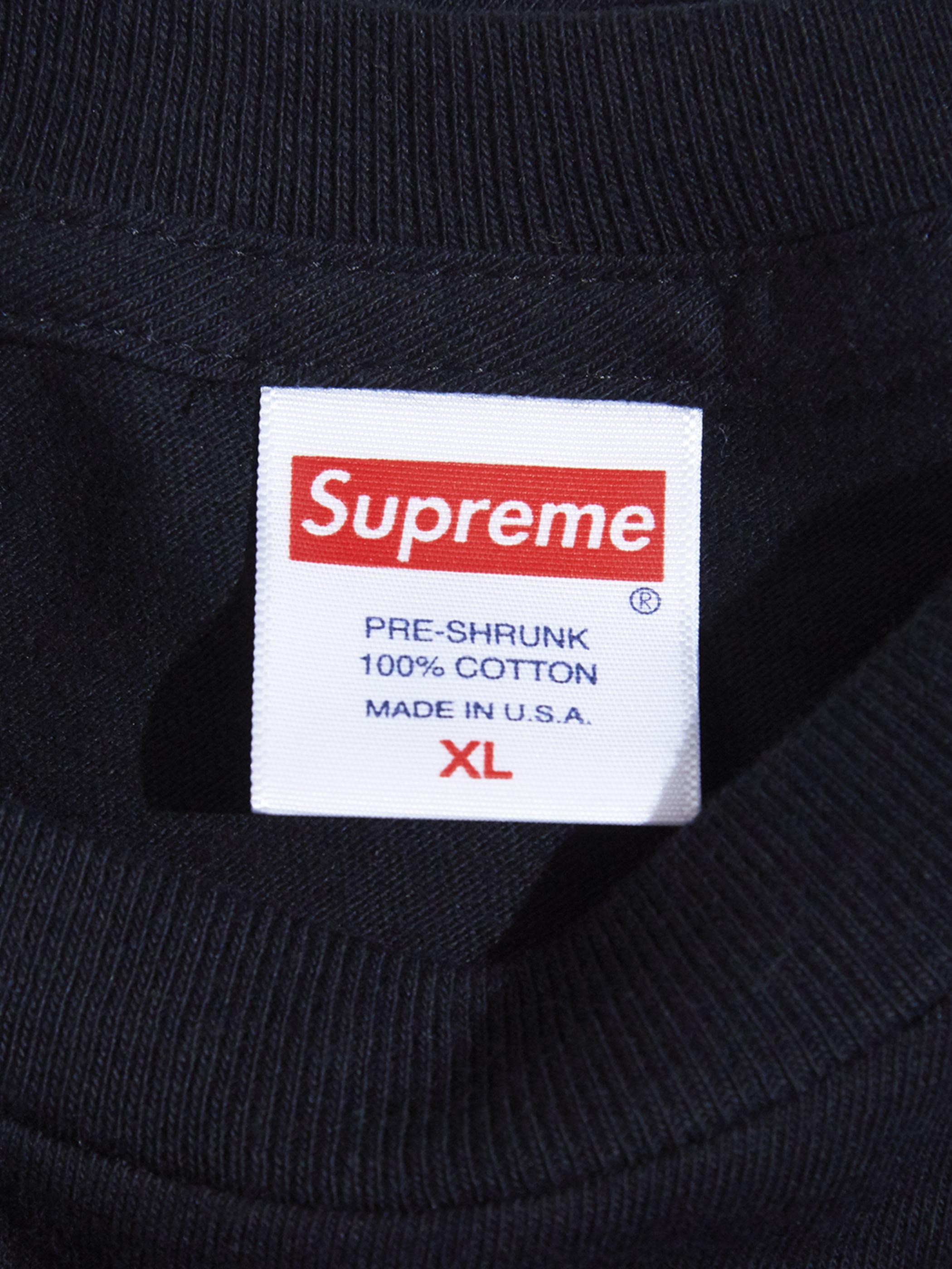 "2000s ""SUPREME"" L/S blank tee -BLACK-"