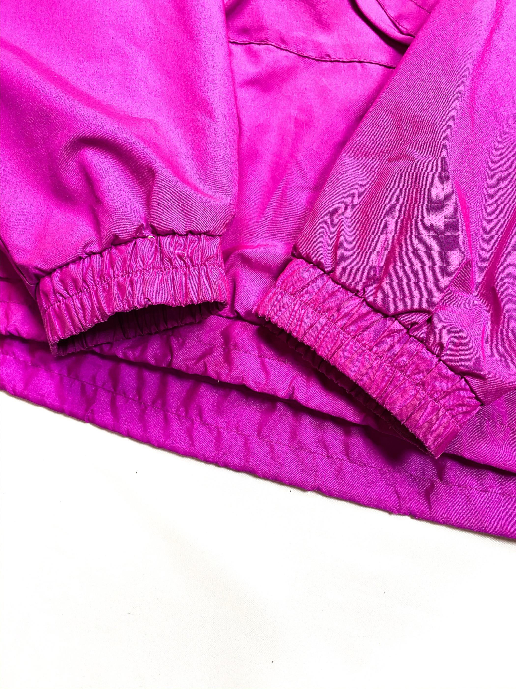 raspberry pink nylon anorak parka