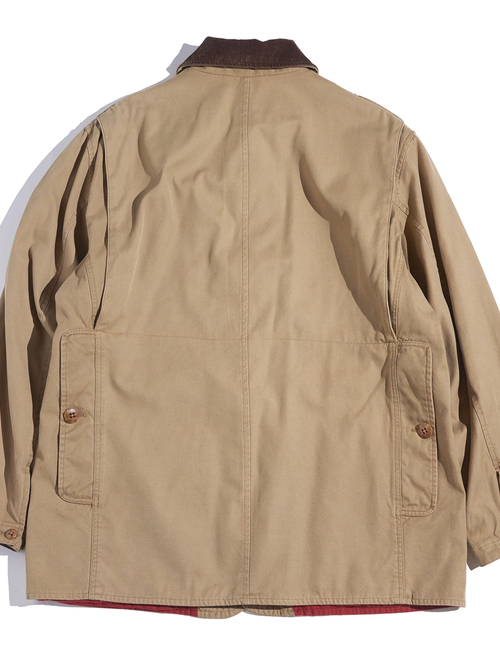"""1990s """"POLO SPORT """" cotton huntting jacket -LIGHT BROWN-"""