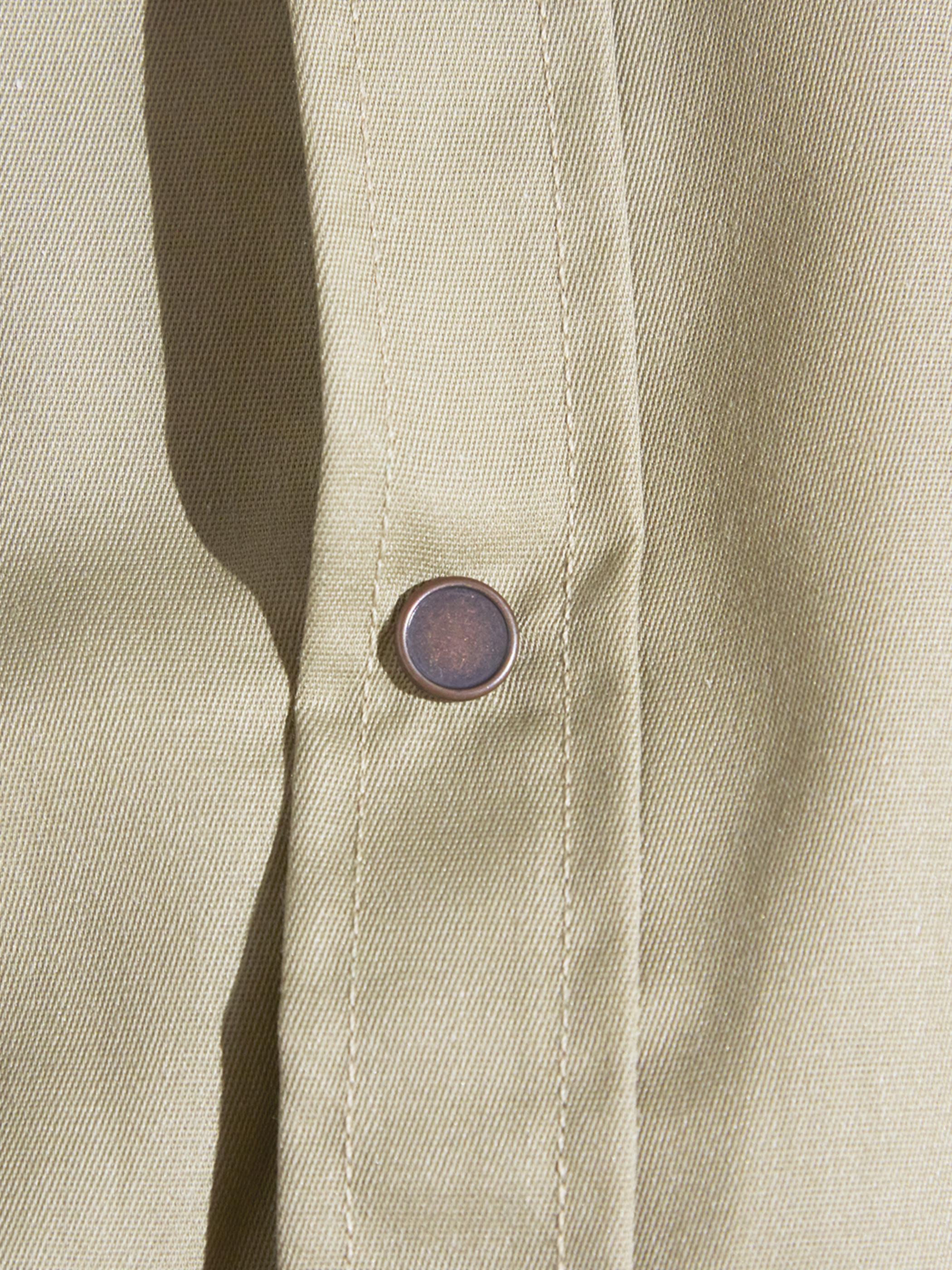 """1980s """"OSH KOSH"""" snap work shirt -BEIGE-"""
