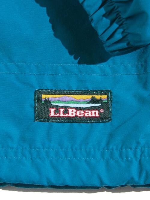 """1990s """"L.L.Bean"""" nylon anorak parka -BLUE-"""