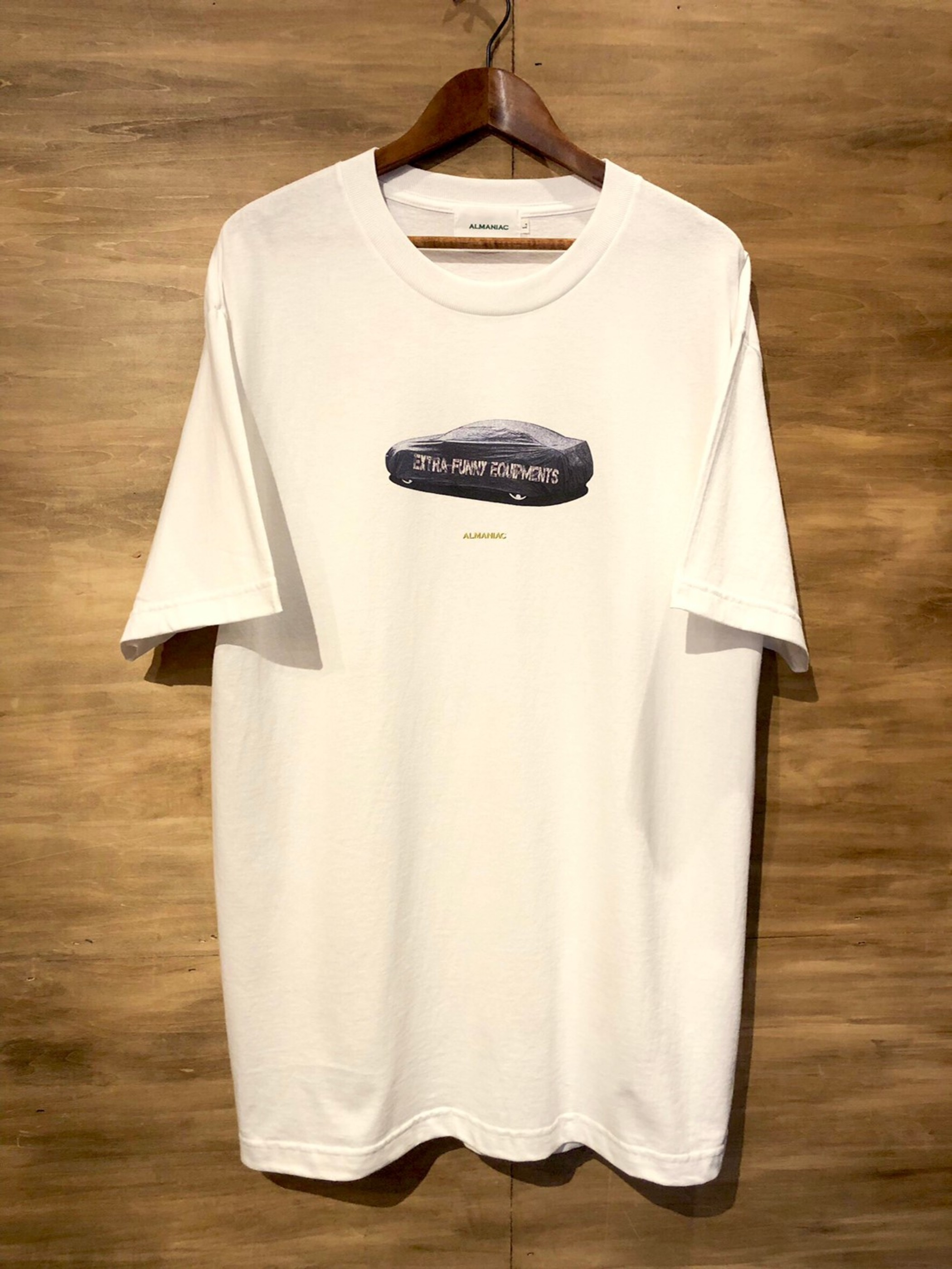 T-shirts [S~XL] ALMANIAC / Covered Car / White