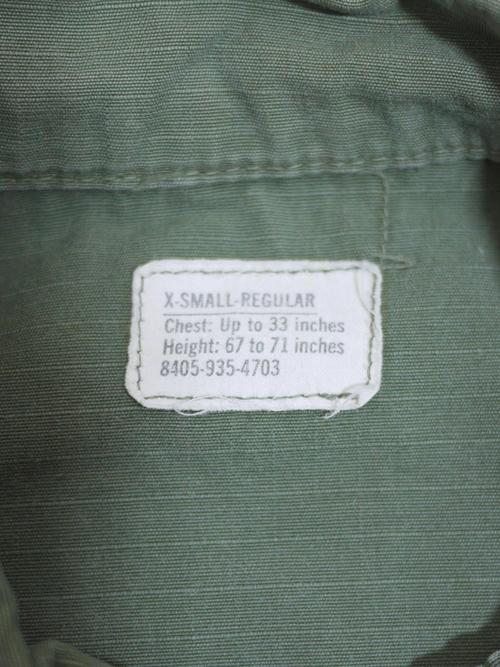 U.S.Military 1960's Fatigue Jacket SizeXS-R #6