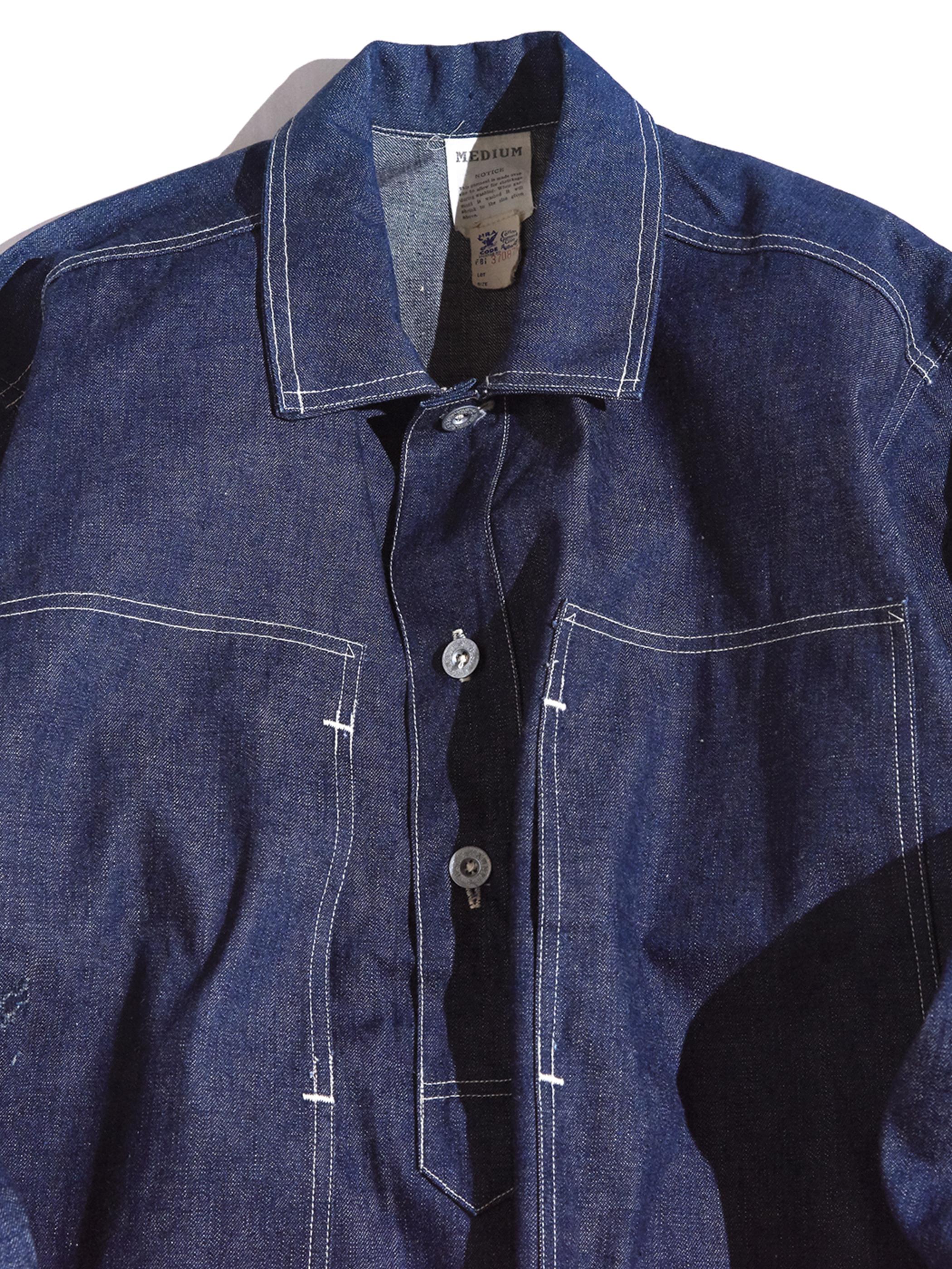 "1930s ""US ARMY"" M-40 denim pullover jacket -INDIGO- <SALE¥250000→¥200000>"