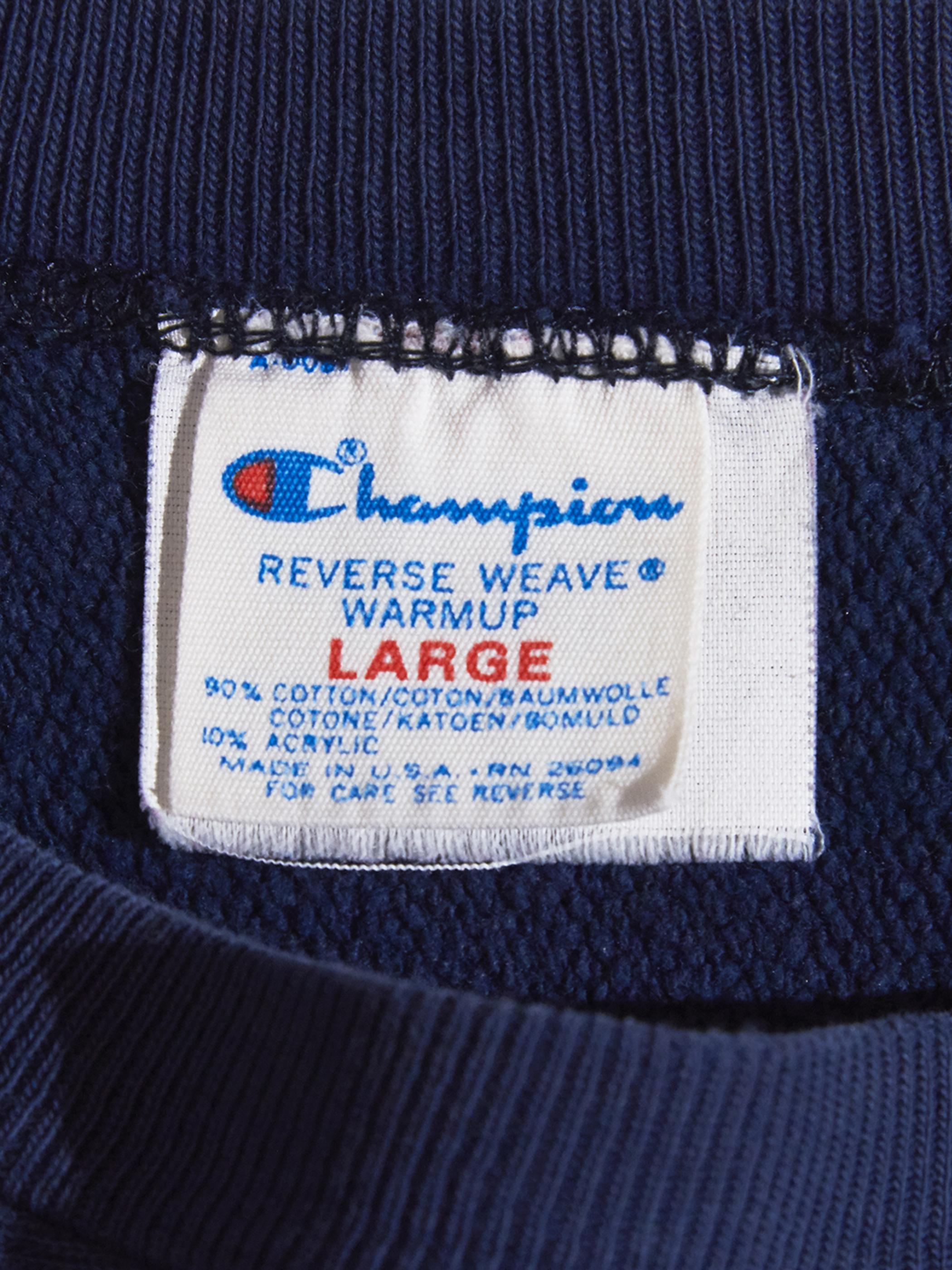 "1980s ""champion"" R/W sweat -NAVY-"