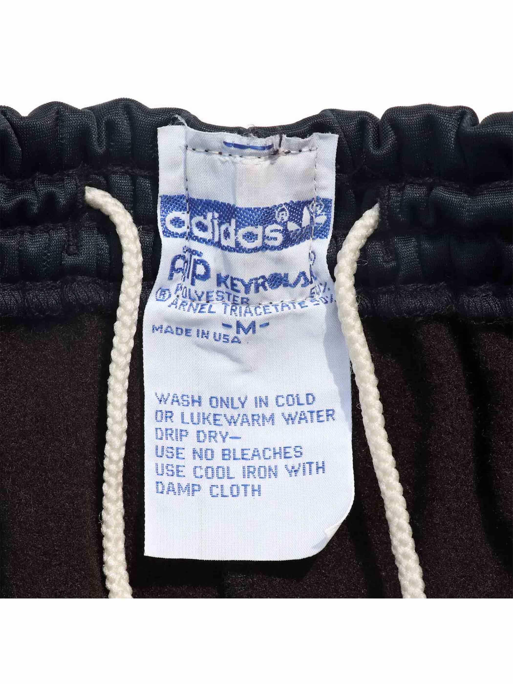 80's ADIDAS ATP ブラック×レッド トラックパンツ [M]