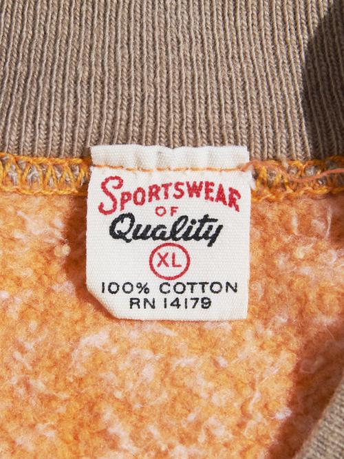 "1960s ""SPORTSWEAR"" fake layard s/s sweat -ORANGE-"