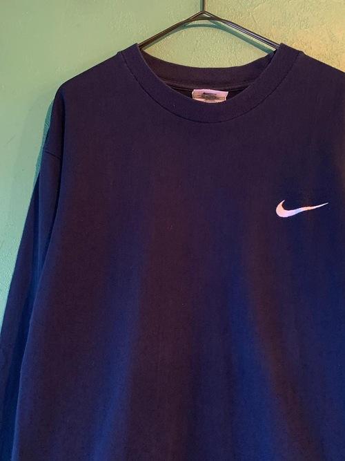 90s NIKE ワンポイント ロングスリーブTシャツ