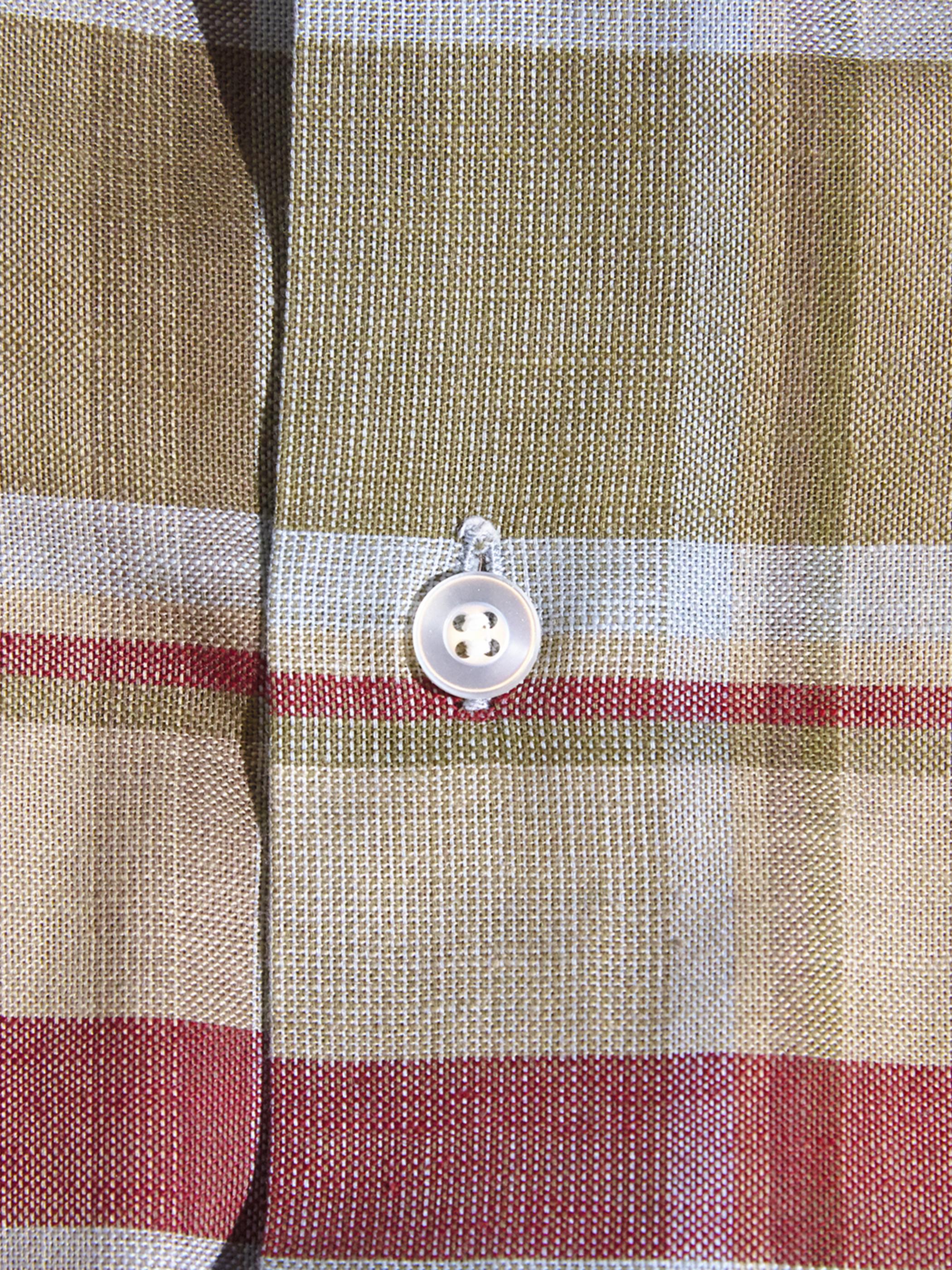"1960s ""Truval"" cotton check shirt -BROWN-"