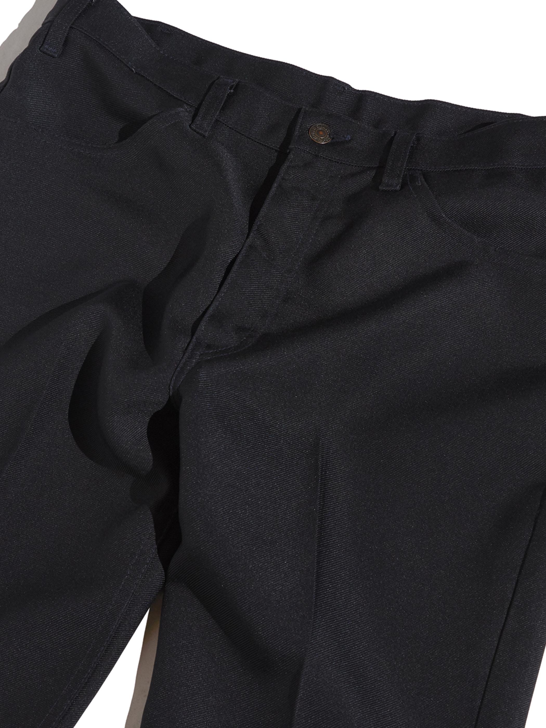 """1980s """"Levi's"""" 517 BOOT CUT tex twill slacks -BLACK-"""